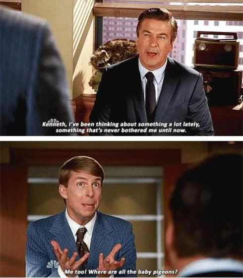"30 Rock: ""Where are the baby pigeons?"""